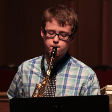 Student Performing on Saxophone