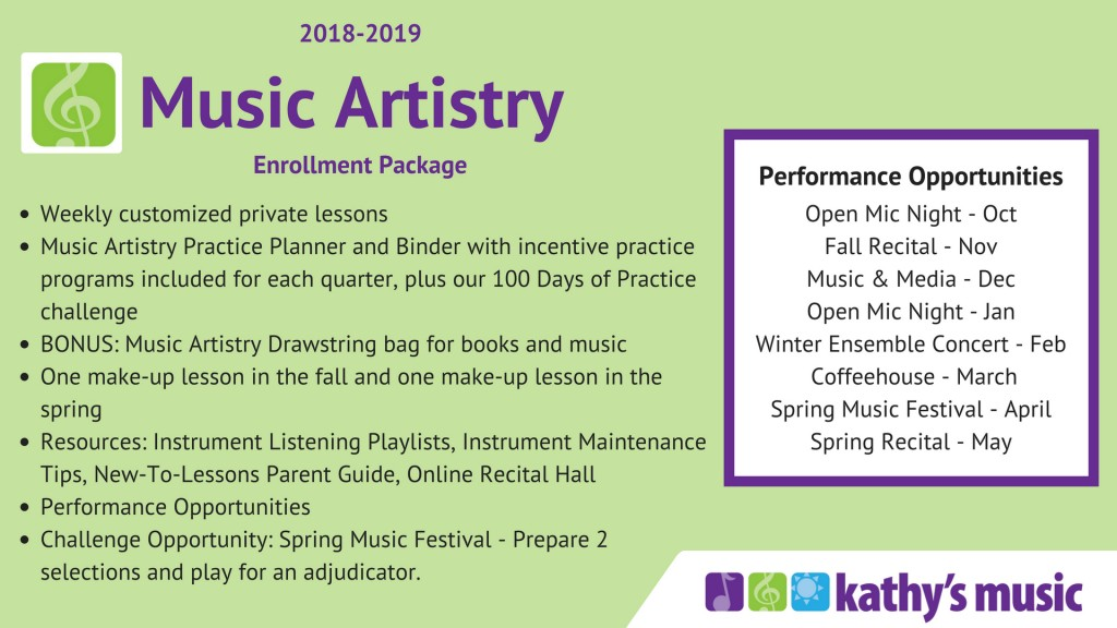 Music Artistry Parent Resource Guide - Kathys Music